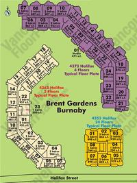 Brent Gardens Area Map