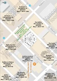 Rosedale Strata Hotel Area Map