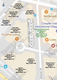 Paris Place Strata Hotel Area Map