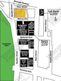 Creekside Area Map