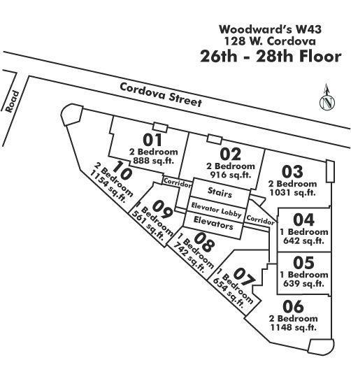 2710 128 W CORDOVA STREET, Vancouver, BC Floor Plate