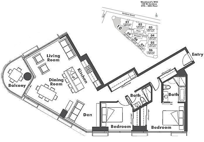 2710 128 W CORDOVA STREET, Vancouver, BC Floor Plan