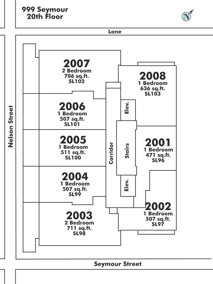 2003 999 SEYMOUR STREET, Vancouver, BC Floor Plate
