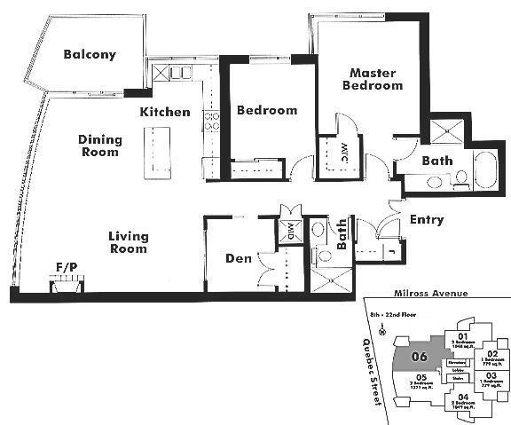 1306 120 MILROSS AVENUE, Vancouver, BC Floor Plan