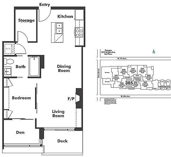 305 1675 W 8TH AVENUE, Vancouver, BC Floor Plan