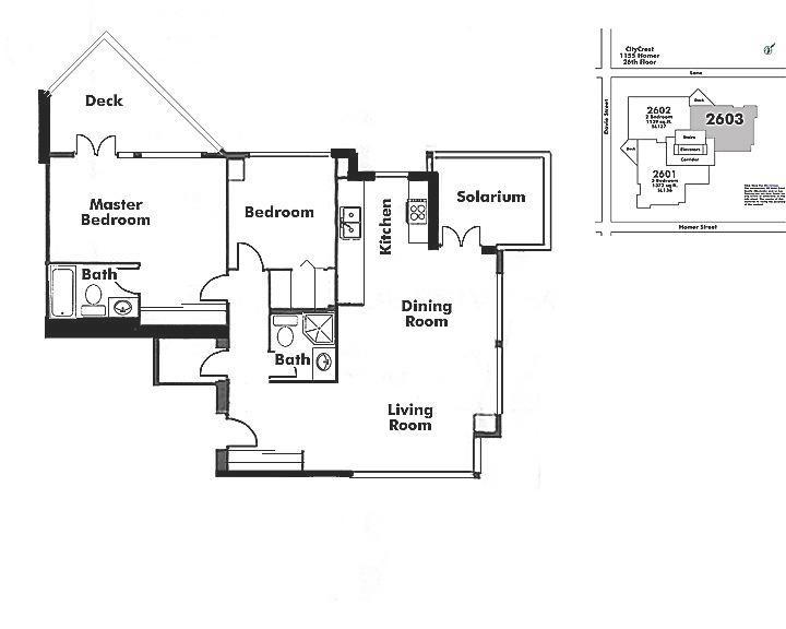 2603 1155 HOMER STREET, Vancouver, BC Floor Plan